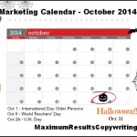 Looking Ahead – Marketing Calendar October 2014