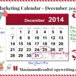 Looking Ahead – Marketing Calendar December 2014