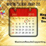 Looking Ahead – Marketing Calendar January 2015