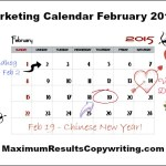Looking Ahead – Marketing Calendar March 2015
