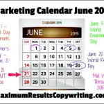 Looking Ahead – Marketing Calendar June 2015