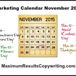 Looking Ahead – Marketing Calendar November 2015