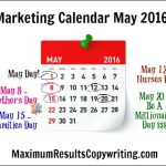 Looking Ahead – Marketing Calendar May 2016