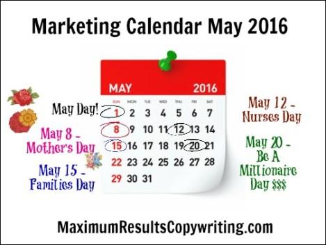 Marketing Calendar May 2016