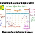 Looking Ahead – Marketing Calendar August 2016