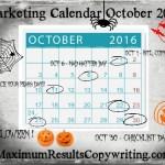Looking Ahead – Marketing Calendar October 2016