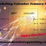 Looking Ahead – Marketing Calendar January 2017