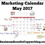 Looking Ahead – Marketing Calendar May 2017