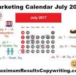Looking Ahead – Marketing Calendar July 2017