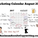 Looking Ahead – Marketing Calendar August 2017