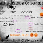 Looking Ahead – Marketing Calendar October 2017