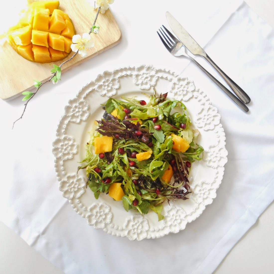 Mango and Rocket Salad with a Chilli Lime Dressing