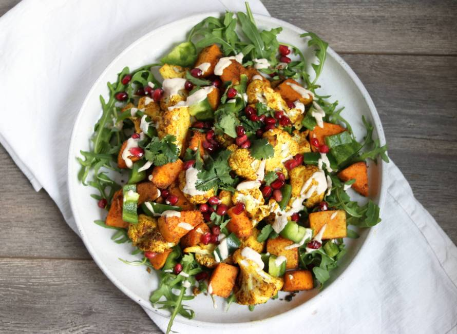 Curried Cauliflower and Squash Salad