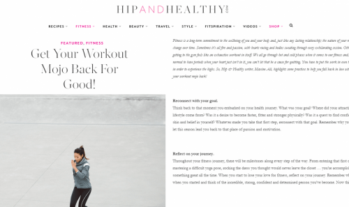 Hip & Healthy - How to get your mojo back