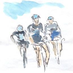 Team Sky and blue sky