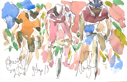 Racing for the line! by Maxine Dodd