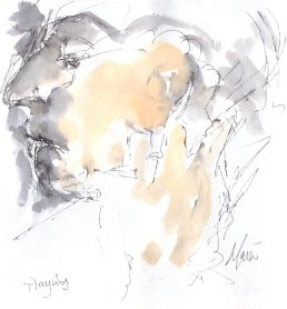 Playing - Study of Paul Tortelier