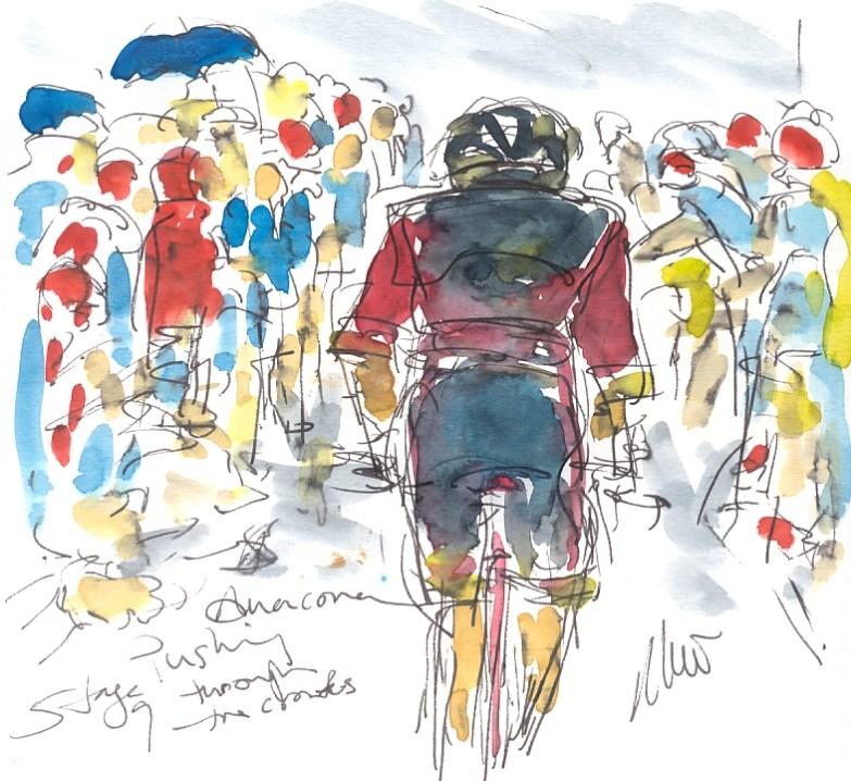 Maxine Dodd, Anacona pushing through the crowds