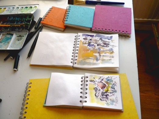 Sunny Pink Pig sketchbooks from Yorkshire!
