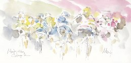 Tour de France, Cycling Art, Misty Riders, by Maxine Doddq