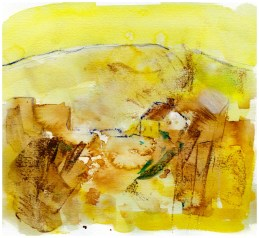 Landscape art, yellow,
