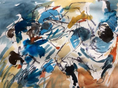 Rugby, art, Six Nations, tumult