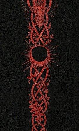 Baphomet T-Shirt Sleeve Art: Maxine Miller