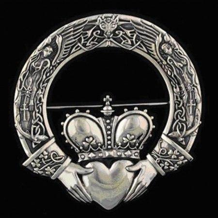 Irish Claddagh Brooch: design by Maxine Miller
