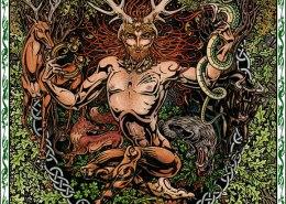Celtic Oracle Deck (Cernunnos) - art by Maxine Miller