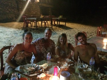 BBQ on the beach with friends