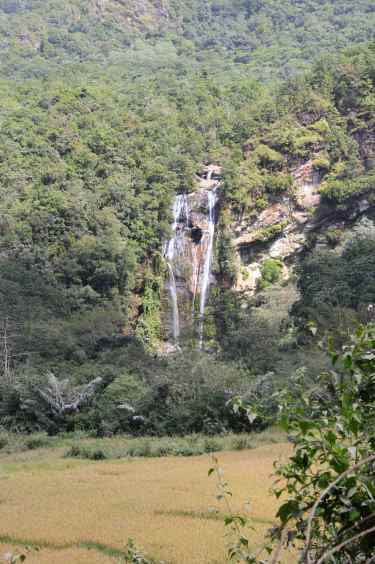 The waterfall from afar