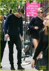 Max Irons and Saoirse Ronan Out in SoHo