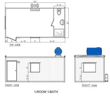 1 room 1 bath