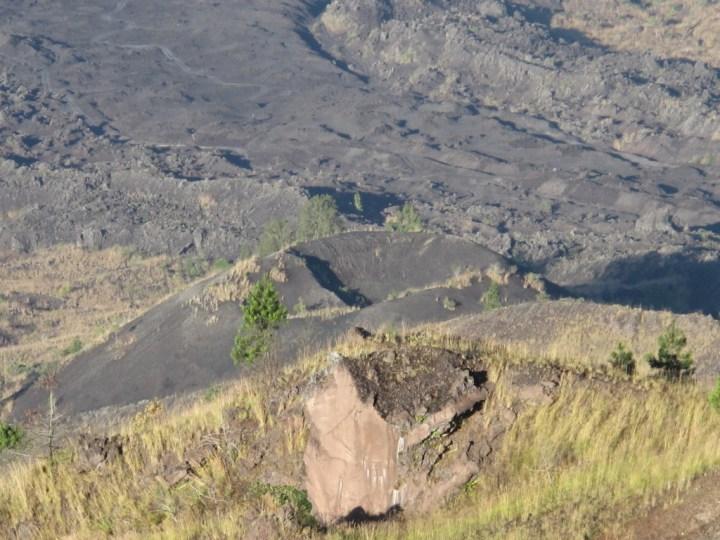 Небольшой кратер, откуда извергалась лава в 1963.