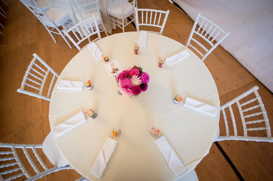 Reception, Head Table, Wedding, Top View, Marriage