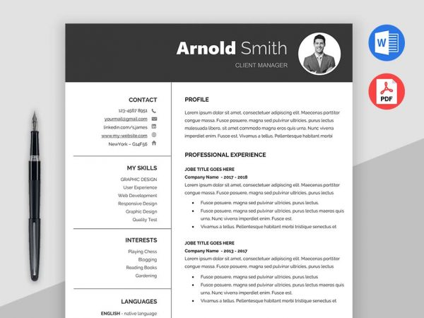 Download Free Resume Templates   MaxResumes Forever     Classic Free Resume Template