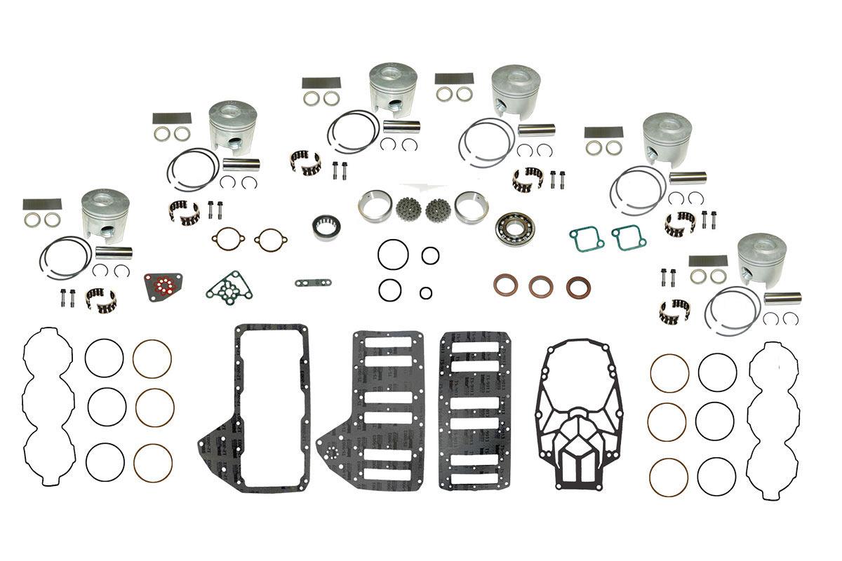 Complete Powerhead Rebuild Kit For Mercury Optimax 3 0l