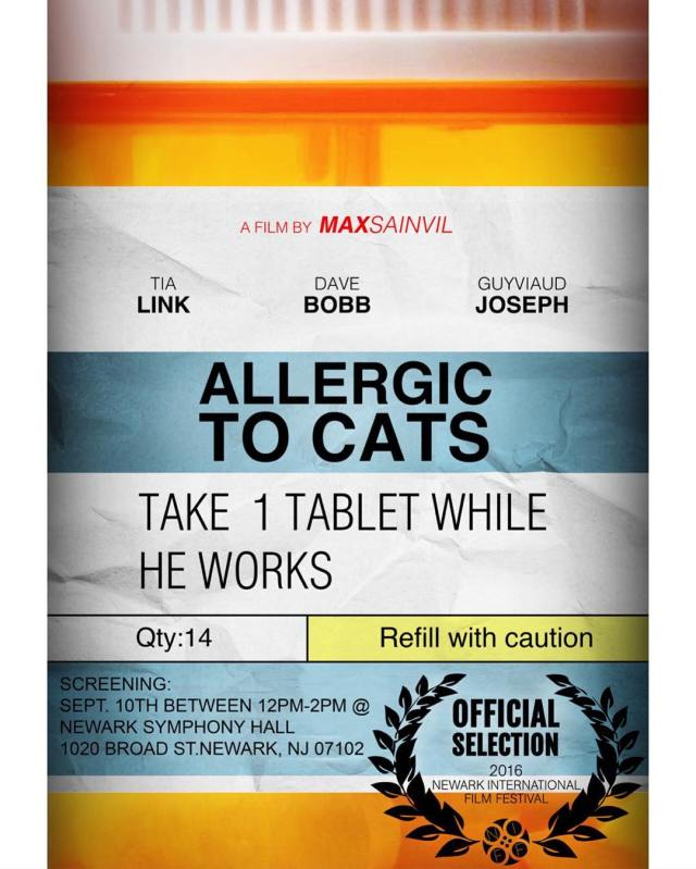 allergictocats screening this Saturday at the Newark International Film Festivalhellip