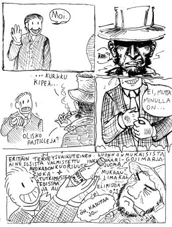 Perjantaipaja on avoin piirtopaja, joka kokoontuu perjantaisin Helsingin sarjakuvakeskuksessa (Porthaninkatu 9) klo 15-18. Lähinnä aikuisille suunnatuissa pajoissa voi työstää omia pöytälaatikkoprojekteja tai osallistua yhteisten improsarjakuvien ja -hahmojen piirtämiseen. Piirtämisen lomassa keskustellaan milloin mistäkin aiheesta sekä hörpitään kahvia ja teetä. Paja myös julkaisee kahdesti vuodessa sarjakuva-antologian, jota myydään muun muassa Helsingin sarjakuvafestivaalien Zine Festissä. Mistä löytää: http://www.perjantaipaja.tumblr.com, http://www.instagram.com/perjantaipaja