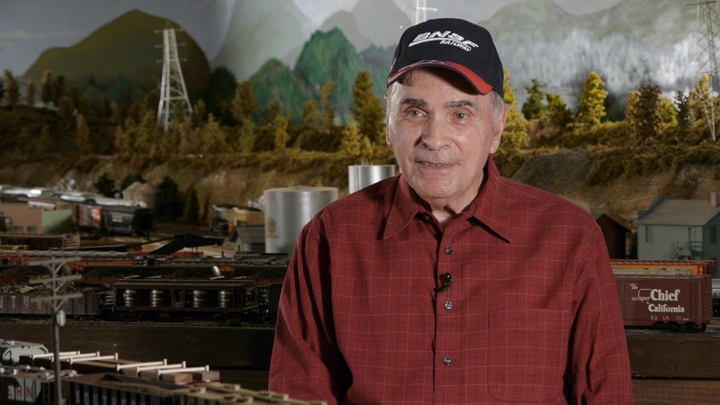 Joe Fiore and his model train collection