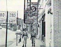 National Guard patrolling in Phenix City, Alabama