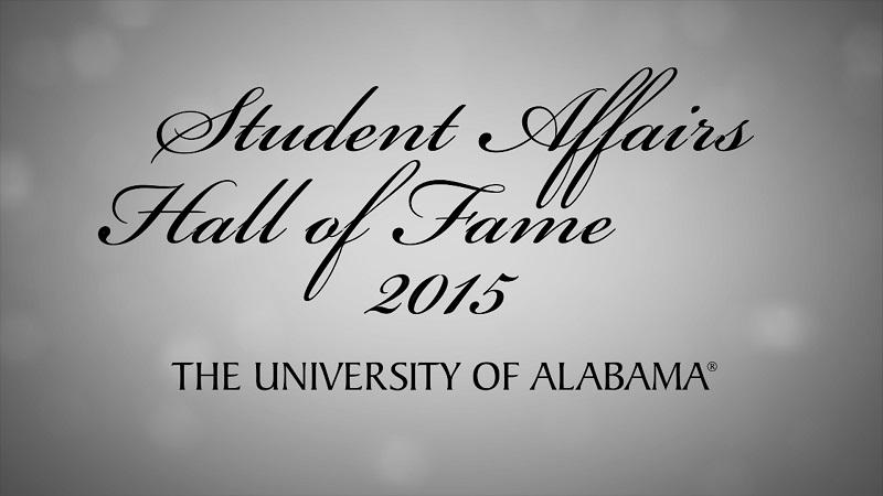 Student Affairs Hall of Fame 2015 – The University of Alabama