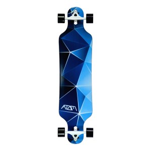 40016 - Atom Drop Through Longboard - 40 Inch (Blue Geo)