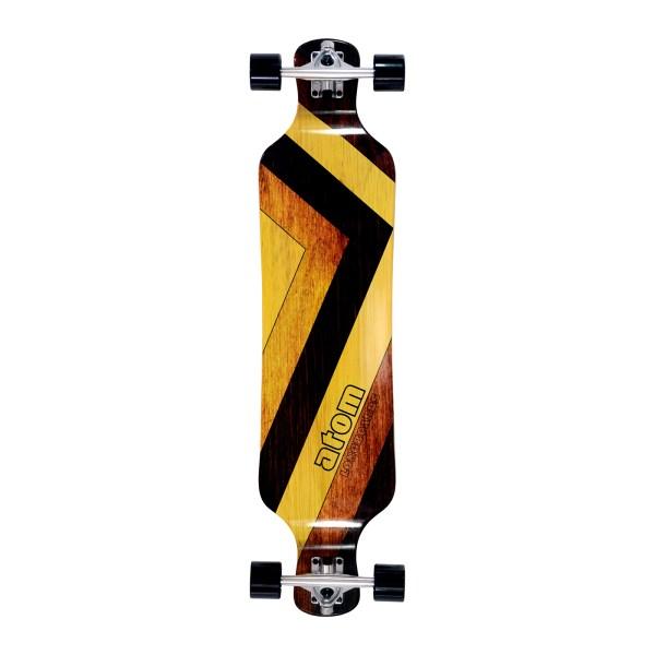 40019 – Atom Drop Deck Longboard – 39 Inch (Woody)