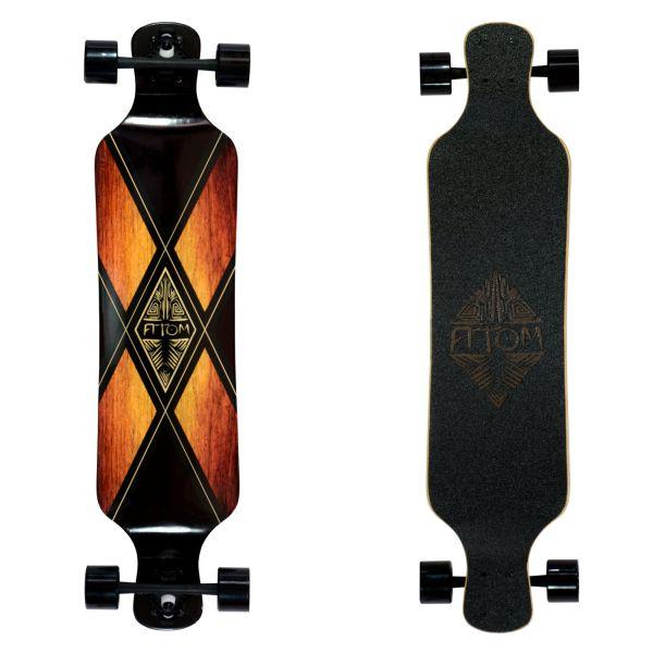 Atom Drop Deck Longboard - 39 Inch (Woody X)