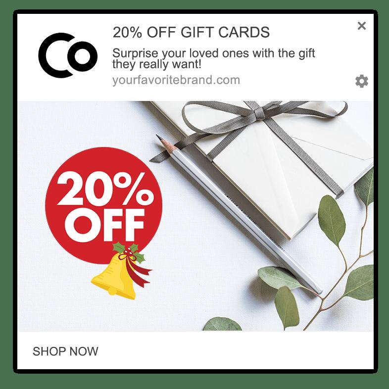 gift card web push
