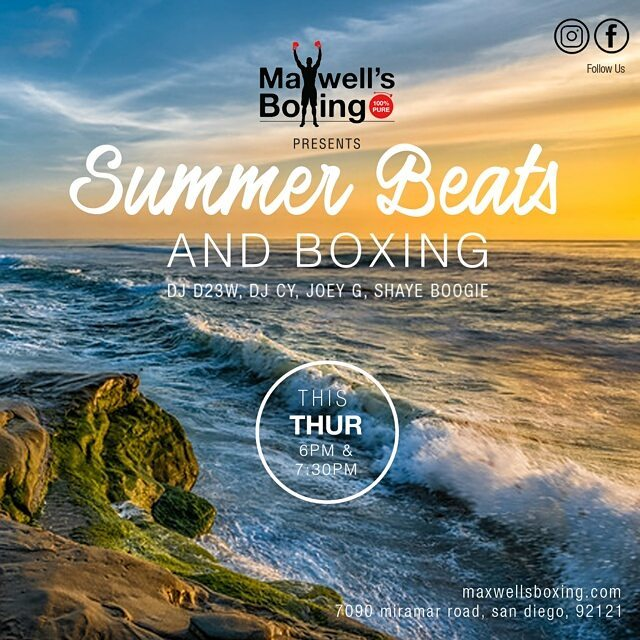 Thumpday Thursday!  It's Beats & Boxing, a strong boxing workout with live music mixes!  If you're not a member come out and try a free class! Visit us MaxwellsBoxing.com #boxing #sandiegoboxing #gyms #sdgyms #fitness #fit #workout #musicworkout #music #djs #sandiegodjs #sandiego #miramar #miramesa #pq #scrippsranch #rb #poway #delmar #lajolla #maxwellsboxing #gratitude