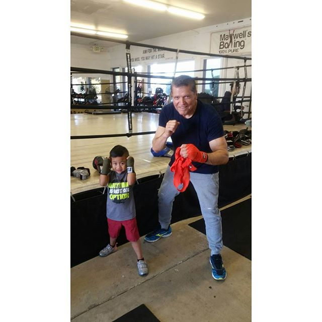 We're continue to grow as a family owned gym, we're grateful to have awesome personalities train with us including our youngest student who just turned 4 years old, Nathan.  And our oldest student who's inspiring, 74 year old Filiberto #boxing #sandiegoboxing #gyms #sdgyms #fitness #sdfitness #youths #seniorcitizen#sandiego #maxwellsboxing