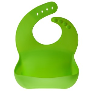 Bavetica flexibila din silicon pentru bebelusi, baveta bebe din cauciuc, moale, usor de curatat, antimurdarire, Maxx, verde-0