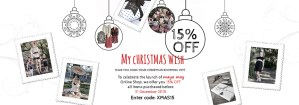15% Off all Maya May clothes and accessories purchased online